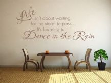 Learning To Dance In The Rain Wall Art Quote, Sticker, Decal, Modern Transfer